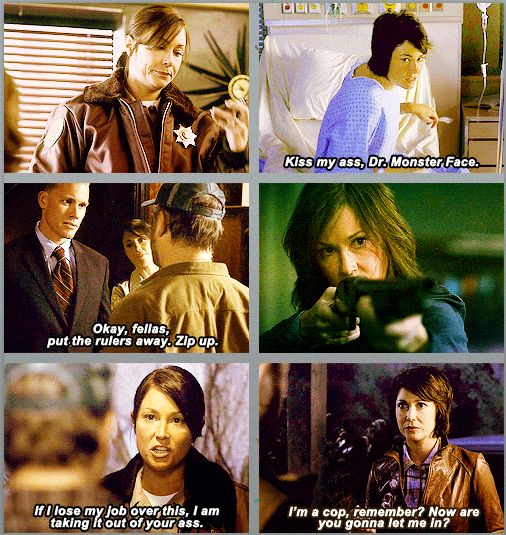 """Jody Mills GIFset. Haha, I just watched the """"Kiss my ass, Dr. Monster Face"""" episode"""