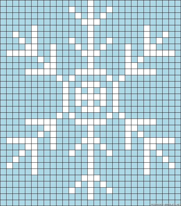 Winter Snowflake perler bead pattern