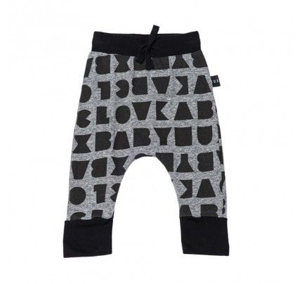 Block Drop Crotch Pant from Huxbaby's AW16 collection from Baby Dino.  www.babydino.com.au