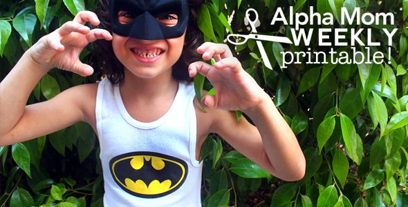 Easy Superhero Tank Tops for Halloween-- do for MOMS Club t-shirts?