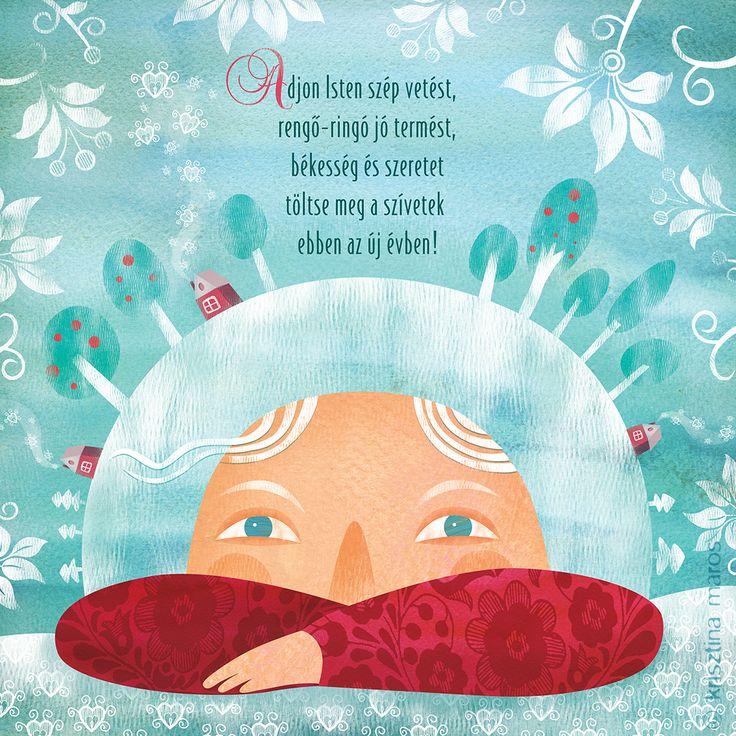 Illustration for 'Ringató' calendar - January, 2015 © Krisztina Maros