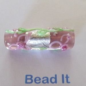 Lampworked bead, dark red w/green frog, 24x20mm flat oval. Sold per pkg of 2..