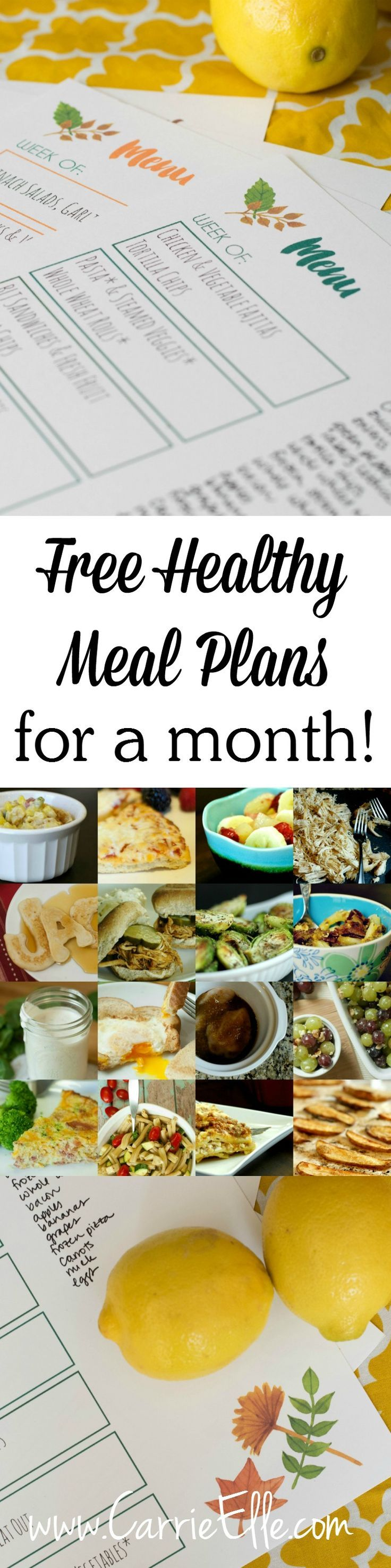 An entire month of healthy meal plans, all on cute printables - so easy! [sponsored by Glad Food Protection] #SaveItSunday #FoodFairyTale