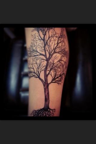Love the tree tattoos
