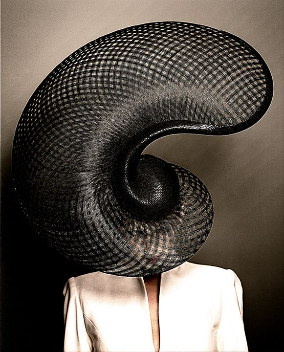 Hats by Philip Treacy, Trussardi Exhibition by commissioned by Vogue