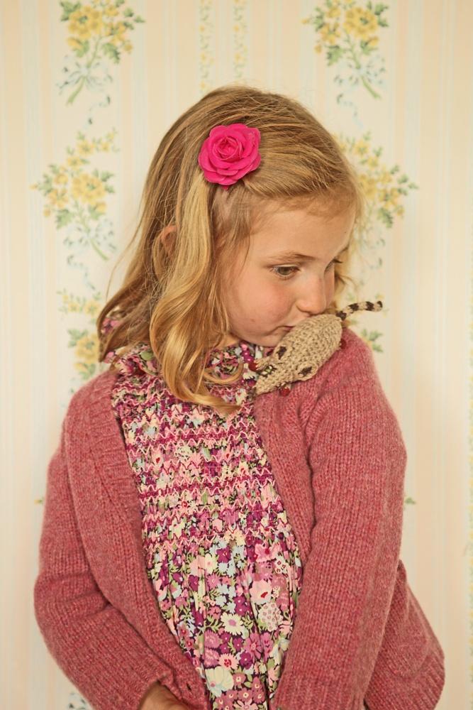 mouse cardigan, Elfie, pink