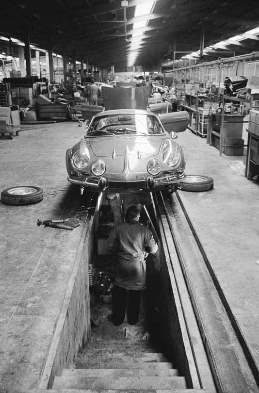 1970 s alpine car factory in dieppe france auto garage for Garage auto france