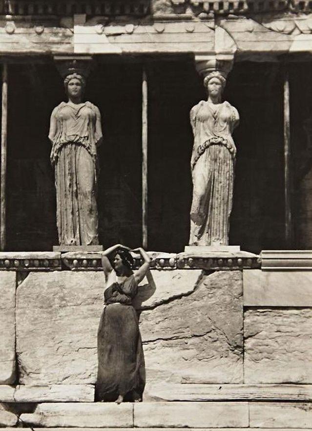 Isidora Duncan at the Acropolis