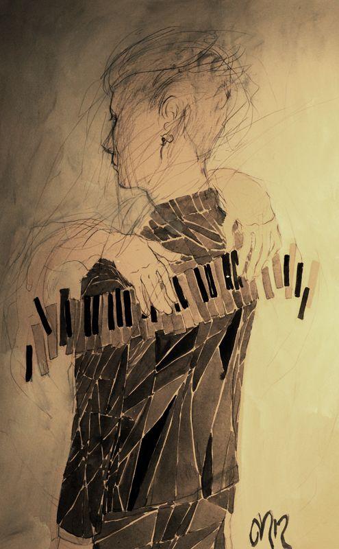 Atmosphere.Illustration Music, Art Piano, De Silence, Art Bitch Painting, Seuil De, Vans Loon, Art Artists, Art Illustration, Jacobs Vans