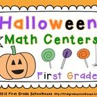Halloween Math Centers First Grade is a packet of 8 Math Centers in color for FIRST GRADE. The centers have a Halloween theme. Centers included: 1...