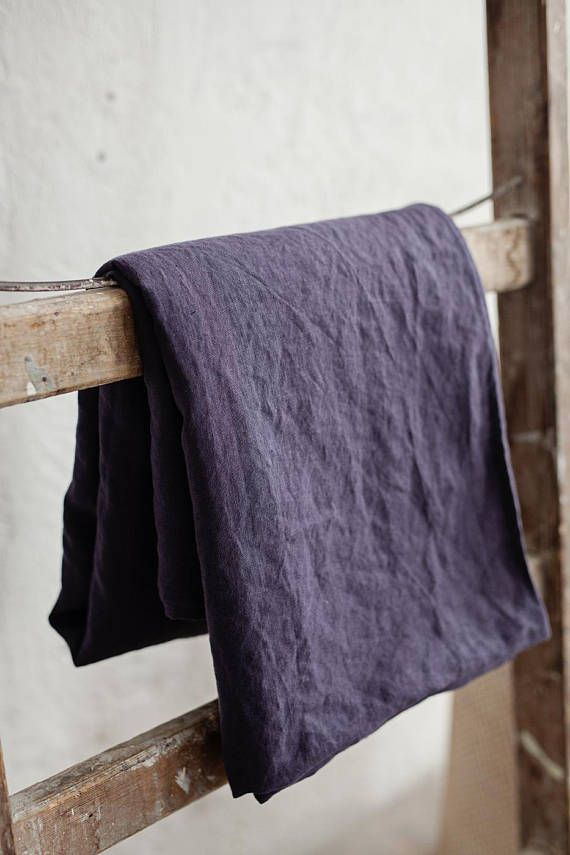 Soft and breathable, this purple charcoal colour flat bed sheet is a great choice for a person, who adores luxury in every detail. The airy softness of linen will make you feel wonderful any time of year, as linen helps you to stay cool in summer and warm in winter. Wonderful neutral