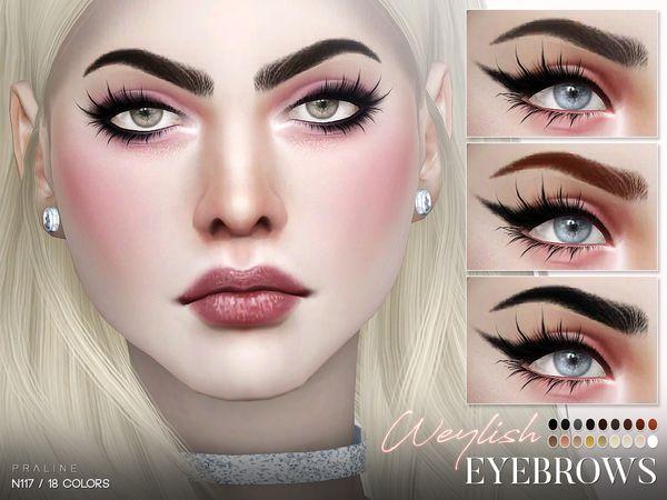Weylish Eyebrows N117 by Pralinesims at TSR • Sims 4 Updates