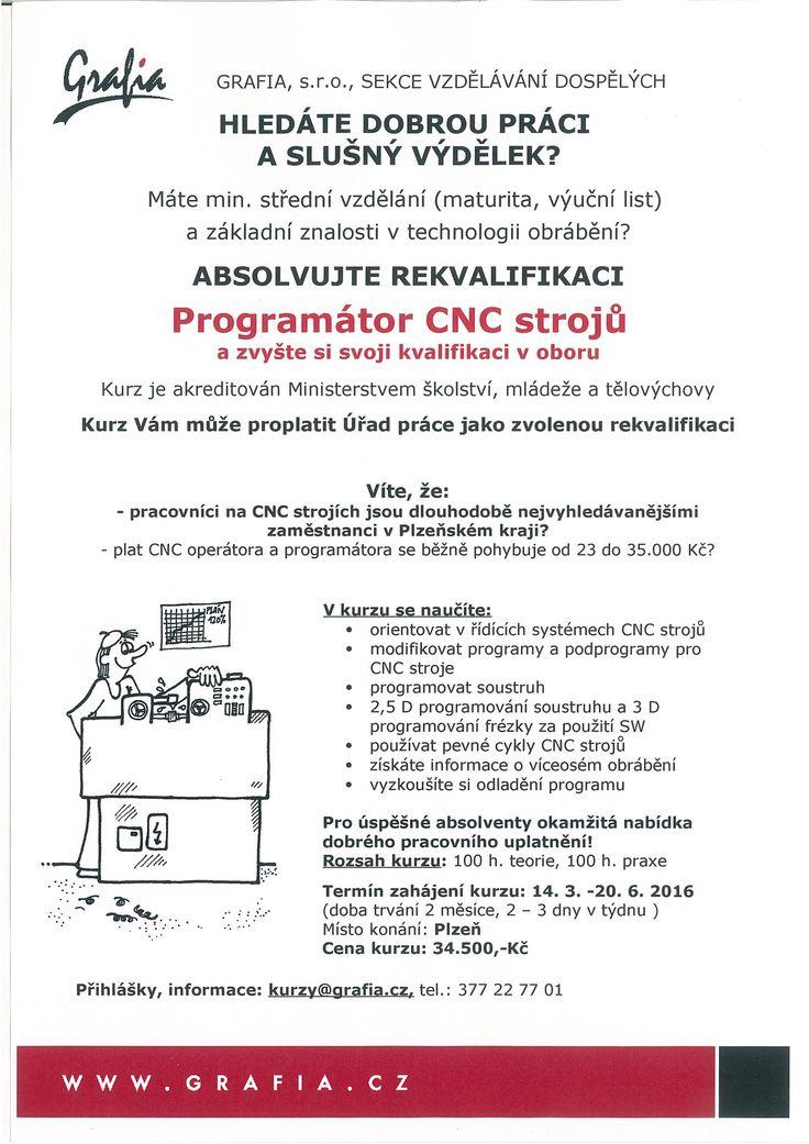 Programátor CNC strojů - akreditovaný kurz