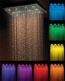 Chromatherapy shower