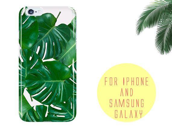 Tropical Leaves Samsung Galaxy S7 edge Case Fiji Palm Phone