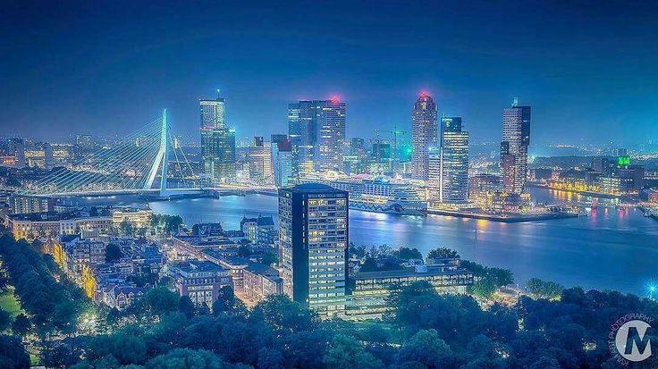 Rotterdam by night.
