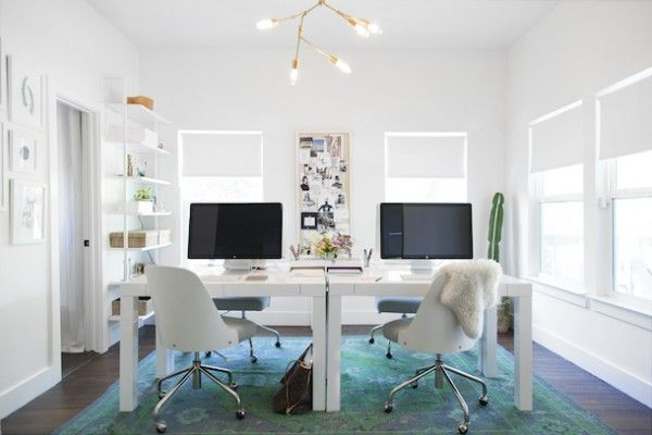 Parsons Desks + Bentwood Office Chairs from west elm