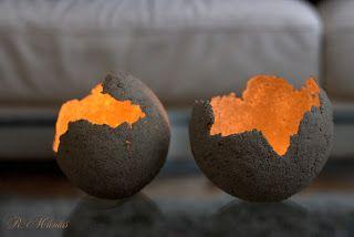 im Alltag und in anderen Tagen: Betonlampen / Kerzenhalter – DIY