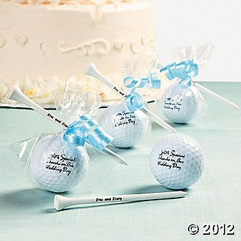 Personalized Golf balls and Tees as Favors! Johnathan would love this!!