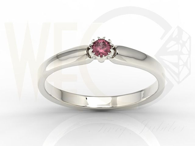 Pierścionek z białego złota z rubinem/ Ring made from white gold with ruby/ 836 PLN #jewellery #ruby #whitegolg #gold #ring