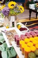 Build-your-own trail mix and smoothie station, including the Ready Set Glow smoothie with açai berries, flaxseed, and coconut water; and the Jump Start smoothie with blueberries, bananas, Greek yogurt, and flaxseed, available at all Kimpton Hotels & Restaurants