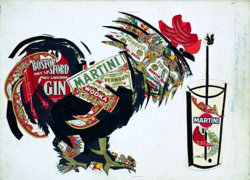 Designersgotoheaven.com - Armando Testa, maquette for Martini. (via Animalarium)