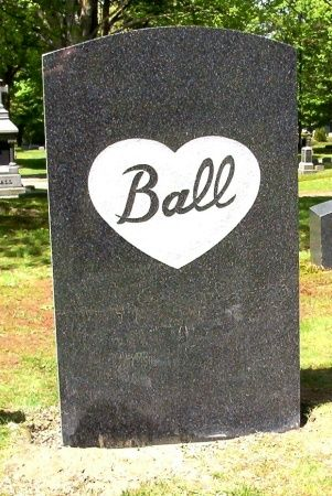Lucille Ball's Headstone (back view) Lake View Cemetery- Jamestown, NY
