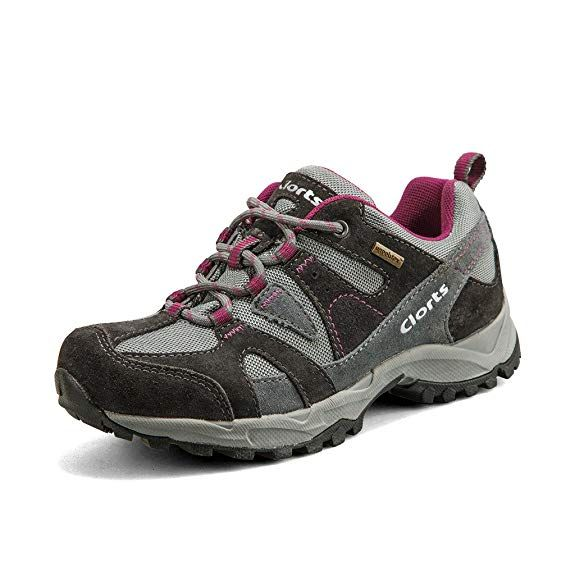 b4a32672c6d Clorts Women's Hiking Shoe Waterproof Suede Leather Lightweight ...
