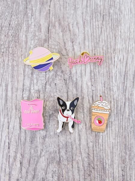 Pins Yeah Bunny - 5 piece set - Frenchie
