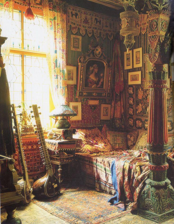 Incredible Bohemian bedroom. Timless Interiors.