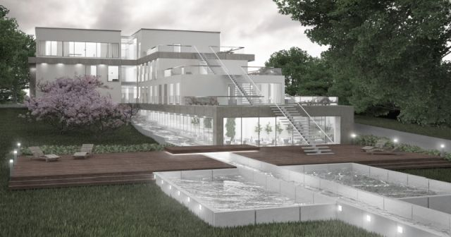 concept of hotel in seaside district Orłowo in Gdynia; project: make Architekci