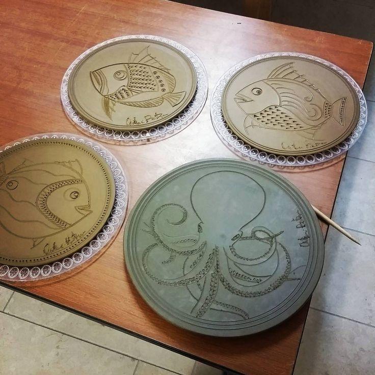Antoni Batzu -  Oschiri #clay #argilla #ceramic #octopus #fish #arredamento #piatto #artesarda #artigianato #homedecor #homedesing #seastile #pottery #handmade #sardinia #madeinitaly #handcrafted