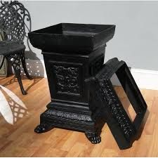 marble top trash can