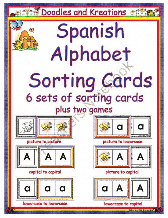 97 best Spanish images on Pinterest School, Dual language and - spanish alphabet chart