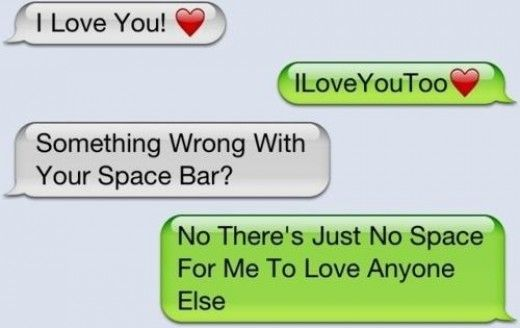 Love u text message