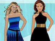 Free Online Girl Games, Beyonce and Lopez Dressup - Beyonce and Jennifer Lopez are headed out together for an award show!  Help them get dressed for so they look their best when they walk down the red carpet!, #celebrity #beyonce #fashion #dressup #makeover