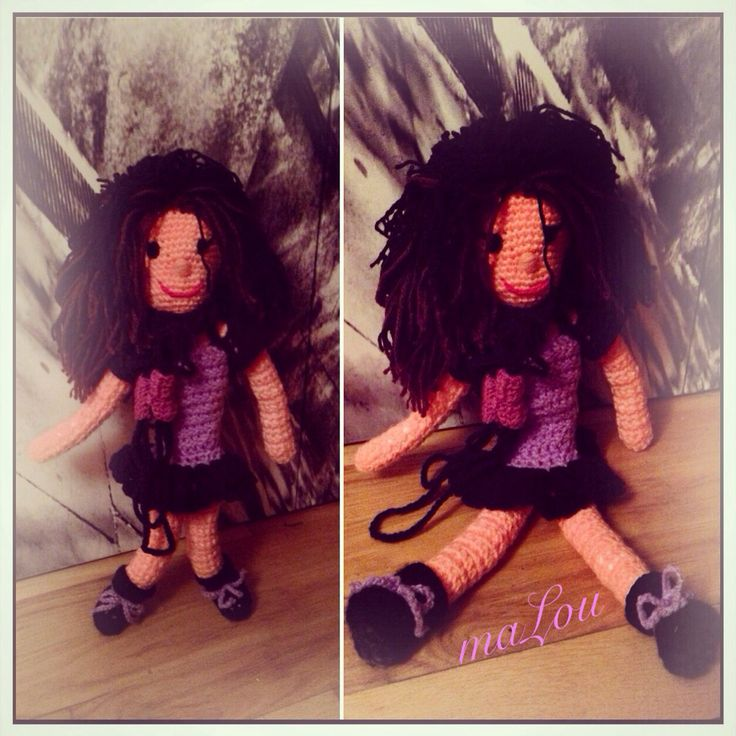 Η πρώτη μου κούκλα με βελονάκι !!!  #myfirstcrochetdoll