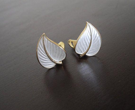 Vintage Modernist Earrings Theodor Olsens