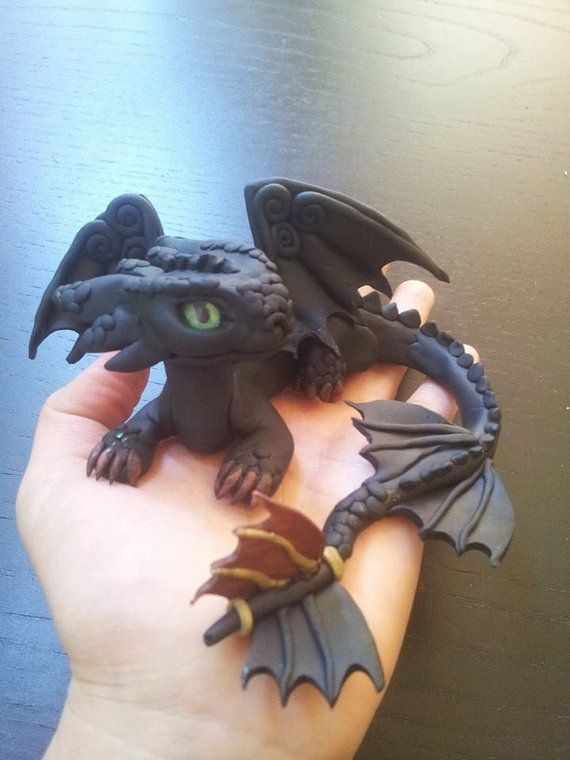 Toothless Dragon by MakoslaCreations on Etsy, $85.00