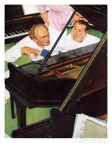 """Jeff Raleigh's Piano Solo"", May 27,1939 Giclee Print by Norman Rockwell at AllPosters.com"