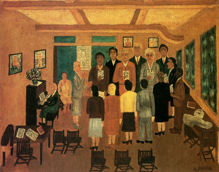 Choir Practice by Horace Pippin  1888-1946