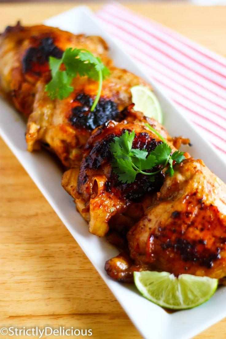 "Caribbean Chicken via StrictlyDelicious; ""mag je vaker maken"" extra scheut sap erin en geweekte  zwarte boontjes eronder"