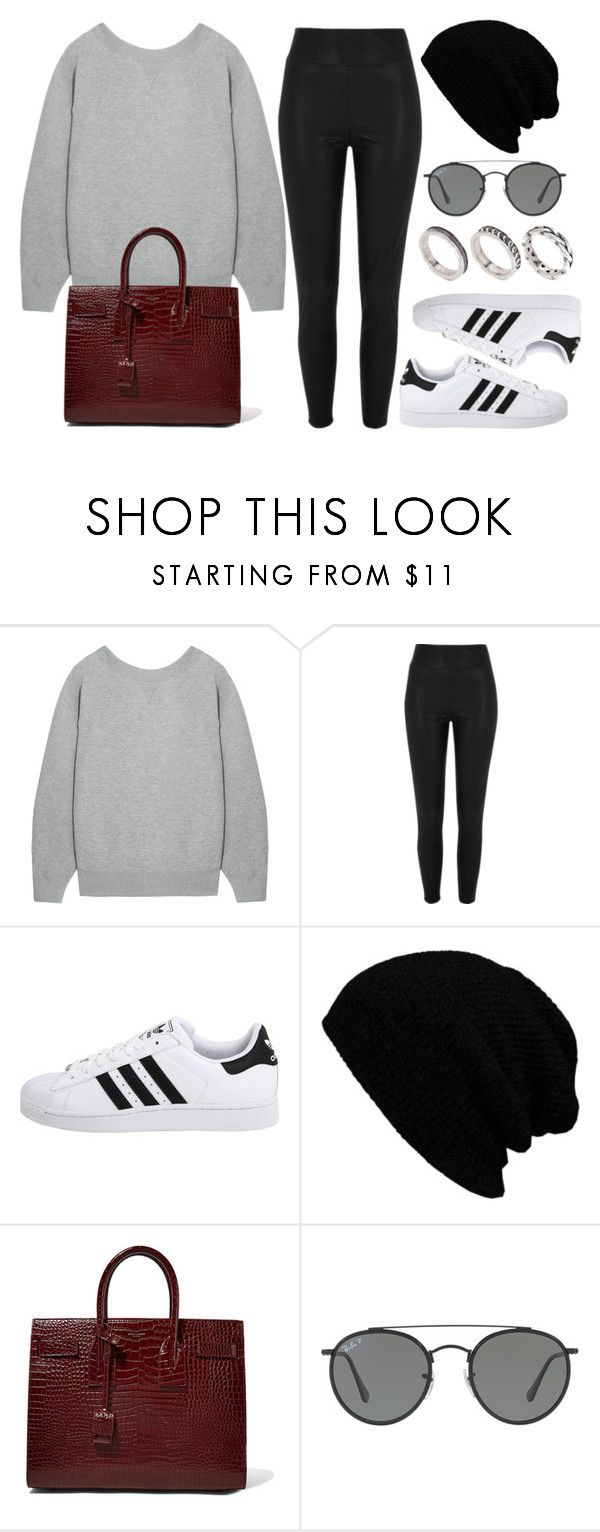"""Sin título #12132"" by vany-alvarado ❤ liked on Polyvore featuring Sacai, River Island, adidas Originals, KBETHOS, Yves Saint Laurent, Ray-Ban and ASOS"
