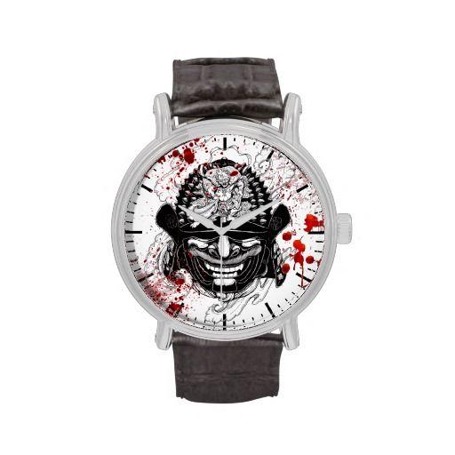 cool blood splatter samurai demon mask helm tattoo wrist. Black Bedroom Furniture Sets. Home Design Ideas