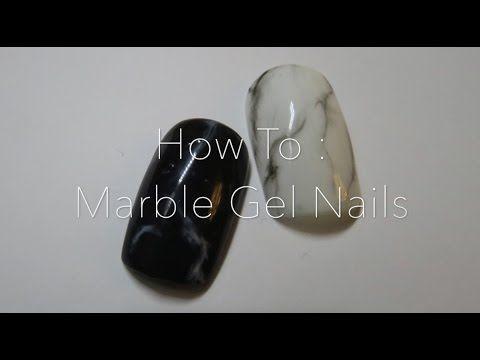 雲石紋Gel甲分享 | Marble Gel Nails | totomorrow - YouTube
