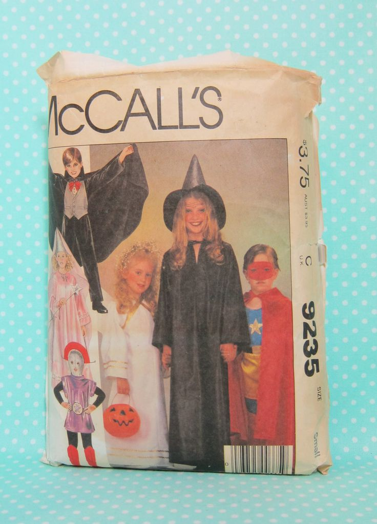 Cheapest Shipping. Kids Multiple Costumes Pattern. Alien Costume Pattern. Vampire, Witch, Angel, Super Hero, Princess. McCall's 9235. Size S by FashionSew on Etsy