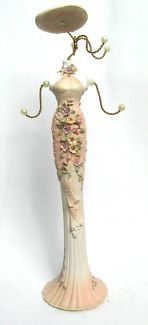 $20 JEWELLERY STAND Mannequin Body Pink Flower Dress 8x36cm Text 0411691171 or email info@bitspencer.com