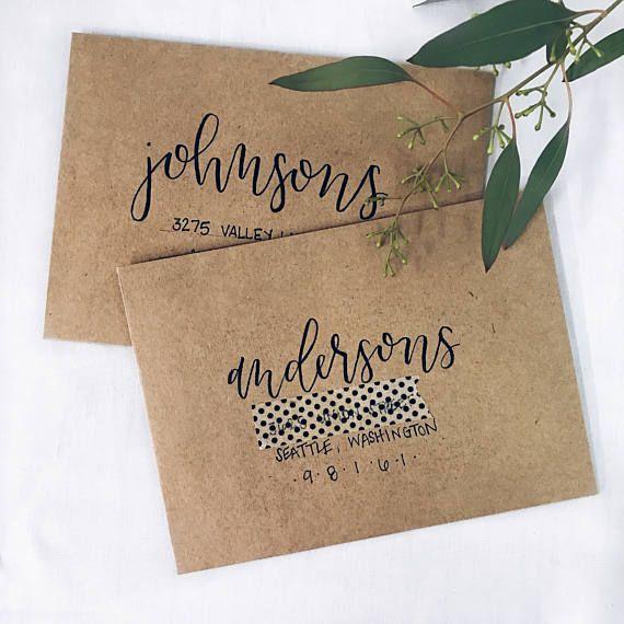 Wedding Envelope Addressing / Wedding Envelope Calligraphy / Wedding ideas / Wedding trends / Hand letter /Wedding decor
