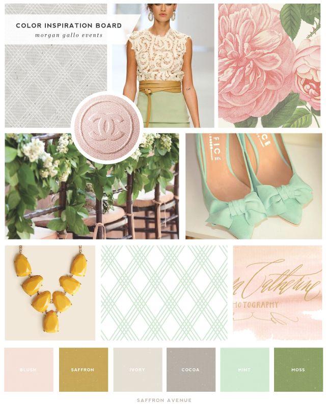 Logo and Website Design :: Morgan Gallo Events - Saffron Avenue : Saffron Avenue