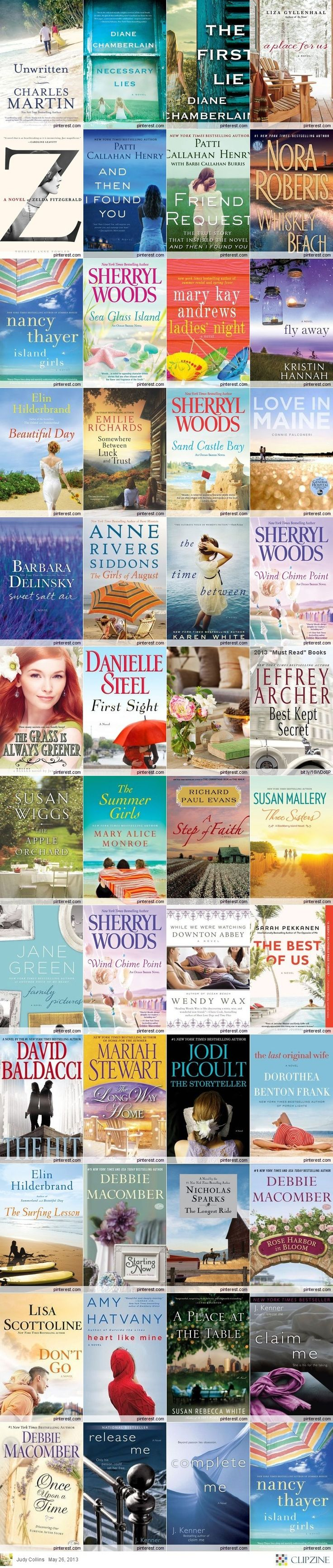 2013 Must Read Books - I'll need to add some of these to my reading list.  Can't wait to read Fly Away!